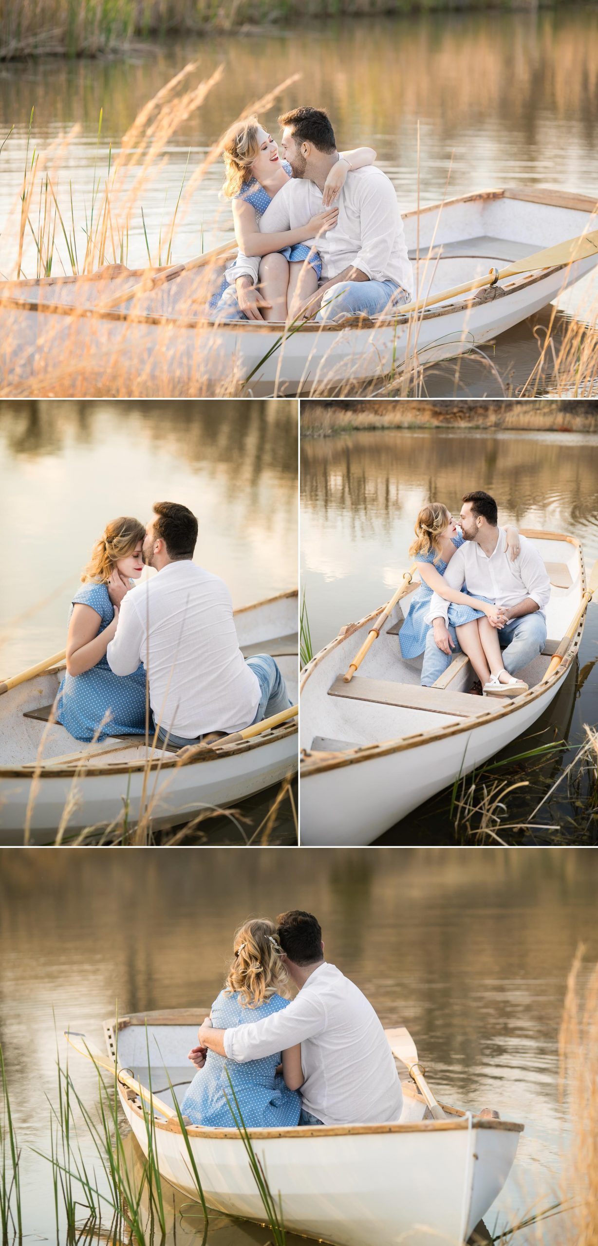 Tulsa Row boat notebook themed engagement session